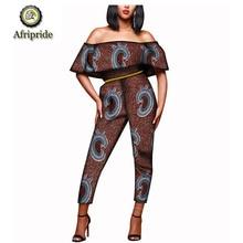 2019 women  jumpsuit african autumn ankara print dashiki bazin riche for pure cotton AFRIPRIDE S1829001