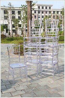 Cadeira de chiavari do casamento do banquete de tiffany da resina clara