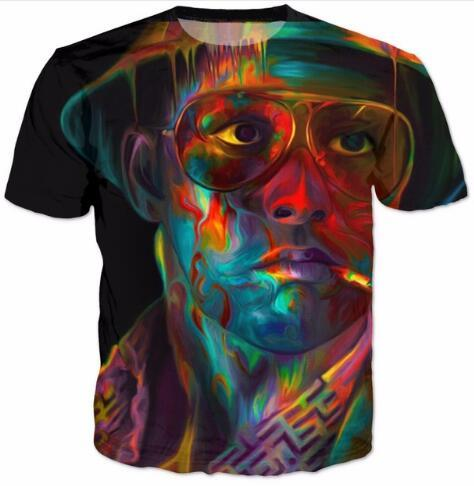 Fashion Clothing Summer Short Sleeve Shirt Outfits Fear And Loathing In Las Vegas T-Shirt Hip-Hop  Tops