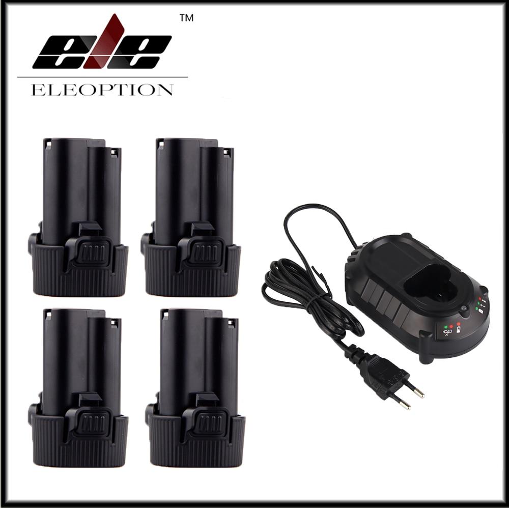 4x10.8 V Batterie pour Makita BL1013 BL1014 TD090D TD090DW LCT203W 194550-6 194551-4 Avec DC10WA 10.8 V 12 V Chargeur