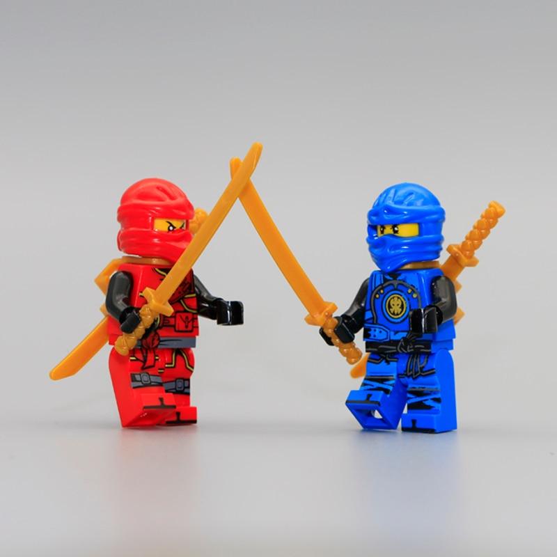 Mini Ninja Wu Nya Kai Jay Lloyd Cole Toy Figure Building Block Sets with weapon