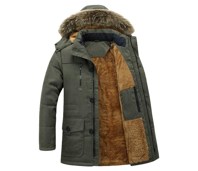 Thick Warm Parka Men New Hot Long Winter Jacket Men Hooded Military Cargo Mens Winter Coat Plus Size M-5XL 6