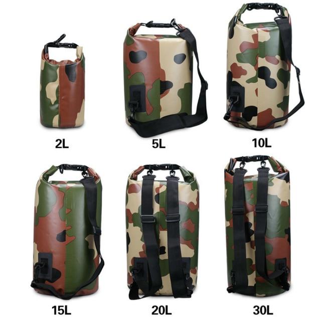 b0e0931513c2 Camouflage Ocean Pack Swim Waterproof Bolsa Drift Bag Pvc Bag Defence Bucket  Package Water Proof Backpack Bag Beach Diving Bag