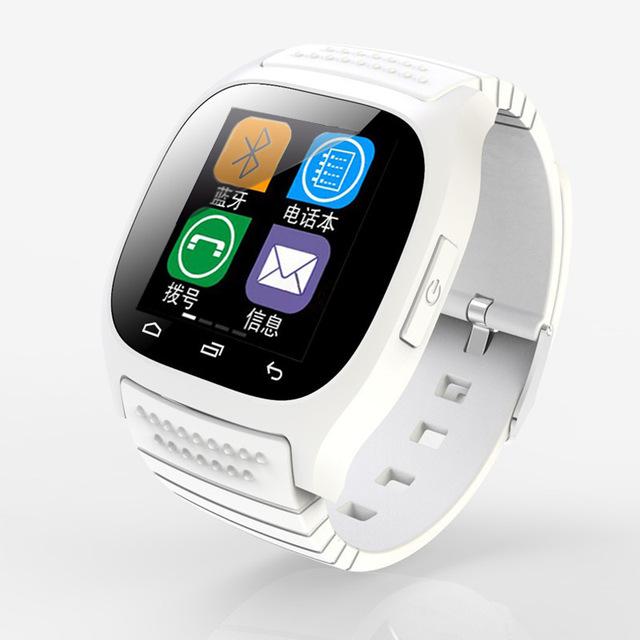 Digital Relógio Do Esporte Do Bluetooth Smartwatch M26 Luxo Relógio de Pulso com Dial SMS Lembre Pedômetro para o Telefone Android
