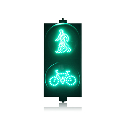 AC85-265V 300mm PC housing red green pedestrian with bicycle signal LED traffic light for promotion