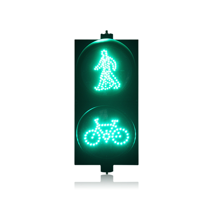 AC85-265V PC Housing Red Green Pedestrian With Bicycle Signal LED Traffic Light For Promotion