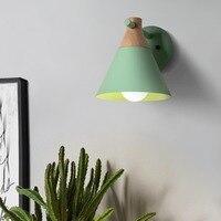 Modern Nordic Colorful Macaron Candy Skirt LED Iron Wall Lamp Bedroom Bedside Light Living Room Sconce Lights Wall Decor Art