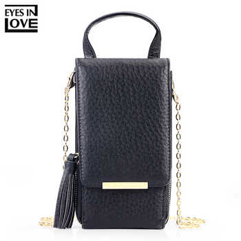 EYES IN LOVE Brand 2019 New Tassel Zipper Mini Shoulder Bags For Women Lady Messenger Phone Bag Card Holder Small Handbag Purses - DISCOUNT ITEM  39% OFF All Category