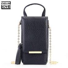Глаза в любви бренд 2019 Новый кисточкой молнии мини сумки на плечо для Для женщин леди телефон сумка держатель для карт маленькую сумочку кошельки