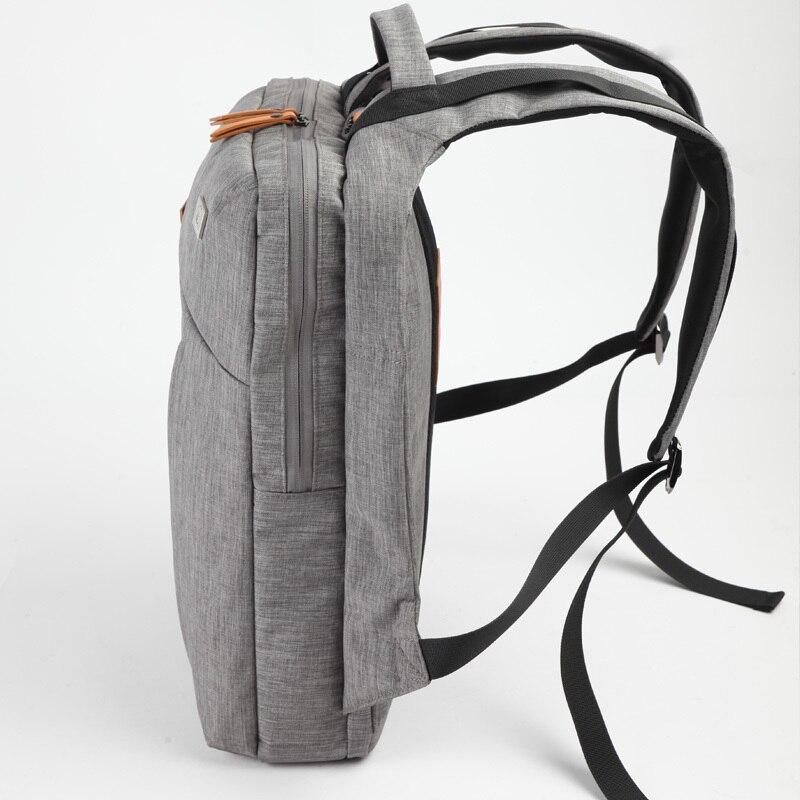 D-park Laptop Backpack Simple Patchwork Large Capacity Mens Backpack for Travel Casual Men Daypacks Leather Travle Backpack