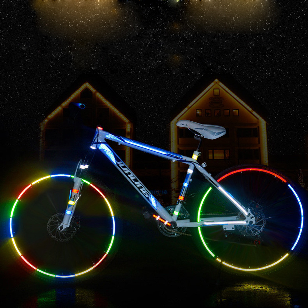 Reflective Stickers MTB Bicycle Reflector Decal Accessories Frame Wheel Sticker
