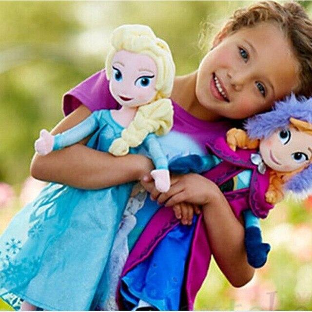 2 шт./компл. 2016 Boneca Анна и Эльза Куклы пышные Игрушки Куклы для девочек для Детей Подарок Игрушки Куклы Бесплатная Доставка