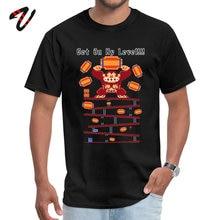 GET MY LEVEL Custom Tops Tees Rockabilly T-shirt for Men Marilyn Manson VALENTINE DAY O-Neck TShirt Family T Shirts Super Mario