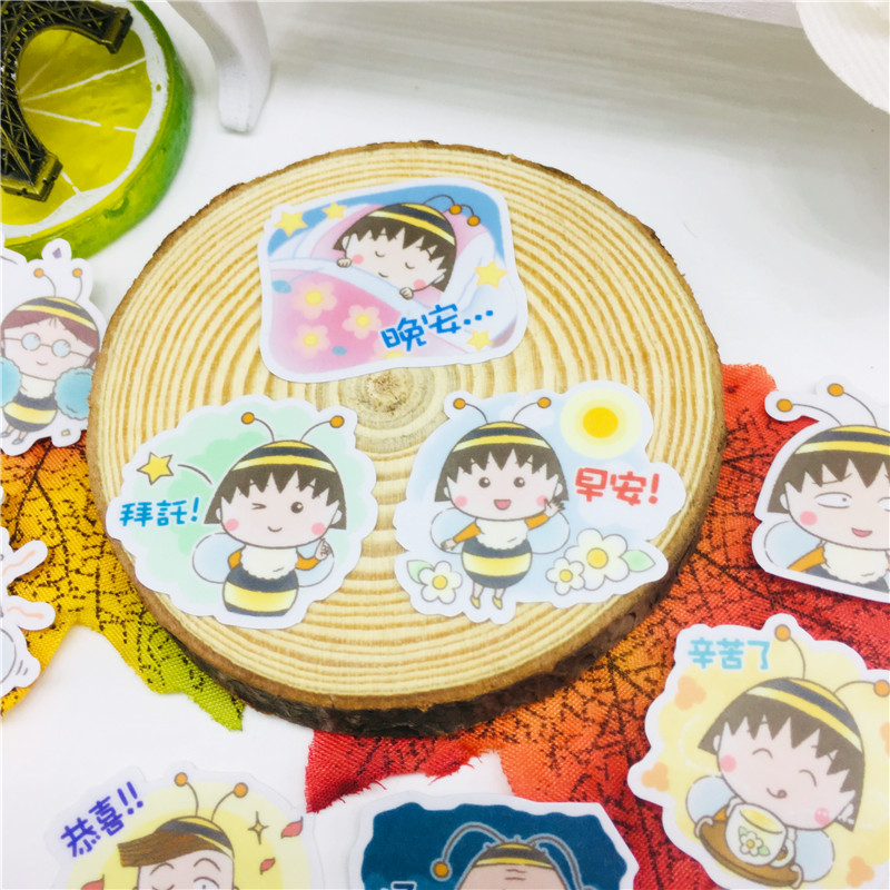 40 pcs Anime bee girl Stickers for Car Styling Bike Motorcycle Phone Laptop Travel Luggage Cool Funny Sticker Bomb Decals in Stickers from Toys Hobbies