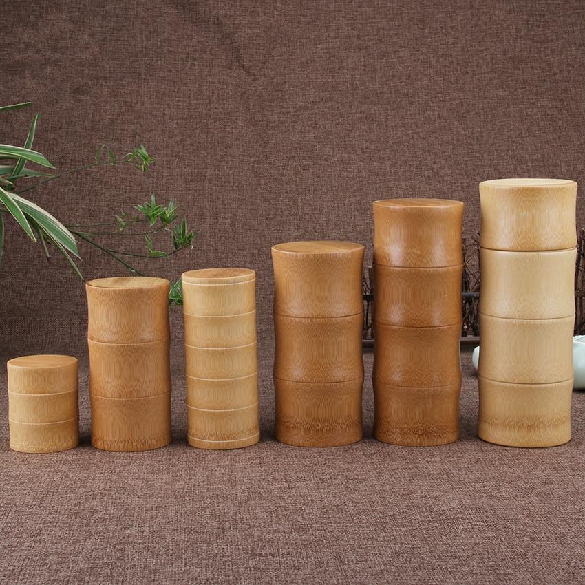 Bamboe opslag flessen Keuken thee Container Jar blikjes Case - Home opslag en organisatie - Foto 4
