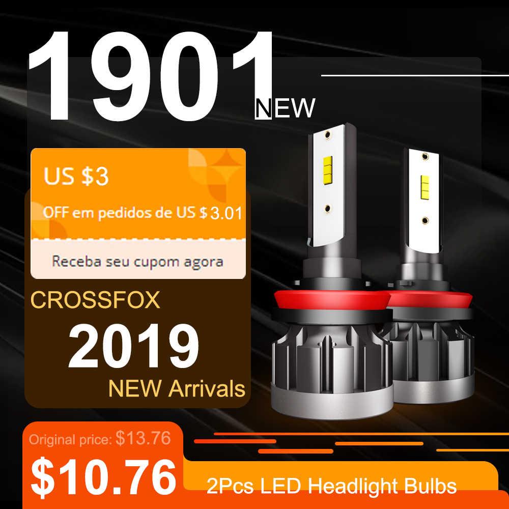 CROSSFOX Car Light LED Headlight Bulb H1 H8 H9 H11 9005 HB3 9006 HB4 H4 H7 LED авто Auto Lamps 12V 24V 6000K White 10000LM