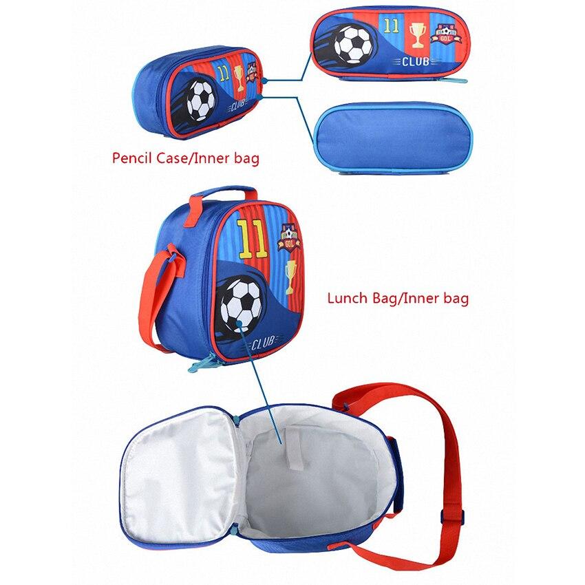 JASMINESTAR 3 pièces sac à roulettes pour fille Grade 1-3-6 papillon sac Trolley + porte-crayon + sac à bandoulière enfants sac à dos cartables - 6