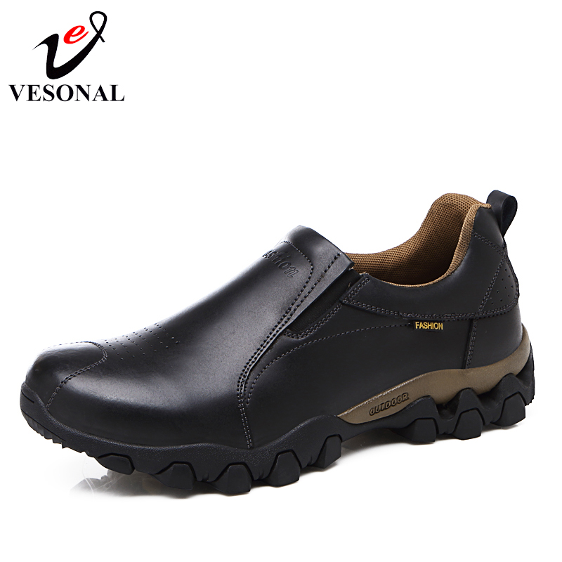 VESONAL Genuine Leather Male Sneakers Loafers Shoes For Men Quality Casual Designer Walking Moccasins Spring Slip On Footwear vesonal 2017 quality mocassin male brand genuine leather casual shoes men loafers breathable ons soft walking boat man footwear
