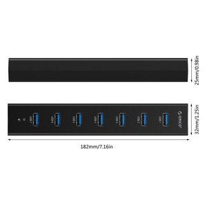 Image 5 - ORICO H7013 U3 AD HUB USB 3,0 de 7 puertos con adaptador de corriente 5V2A alta velocidad Negro