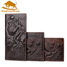 Genuine Leather Men Wallets Vintage Famous Brand Design Card Holder Purse Bag Fashion Long Wallet Clutch contact s men wallets top genuine cow leather vintage design purse men brand famous card holder mens wallet carteira masculina