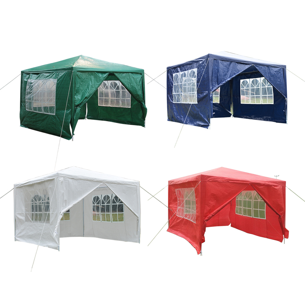 Panana 3 x 3m Waterproof Outdoor PE Garden Gazebo Marquee Canopy Party Tent 4 Sides Fast shipping