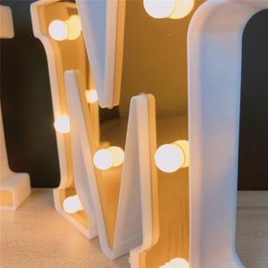 Image 5 - INS Gold 26 Английский алфавит Marquee светильник, Свадебный светильник, светильник с именем и буквой s, светодиодный Ночной светильник, украшение для бара