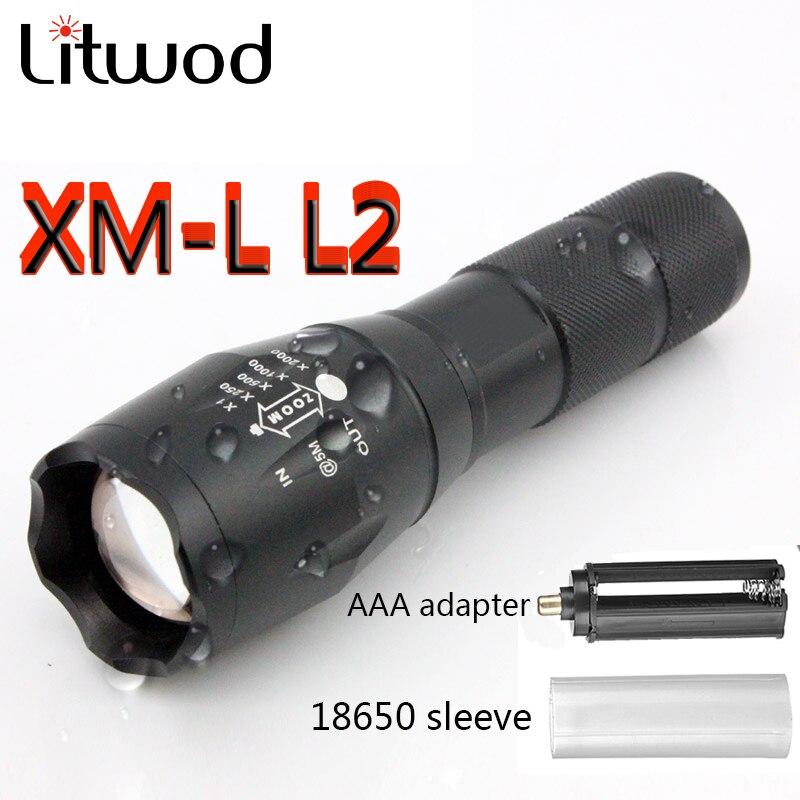 Lanternas e Lanternas litwod a10025 xm-l l2 5000lm Material do Corpo : Alumínio
