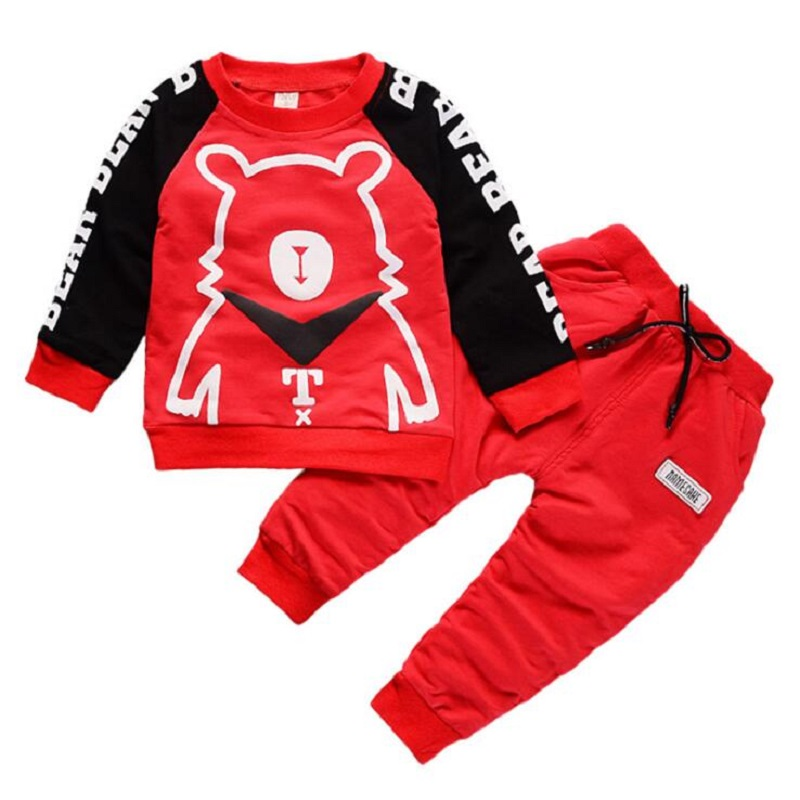 spring autumn Cartoon Baby Boy Clothes Set Children Clothing Sets Products Kids Clothes Baby Boys T-shirts+Pants 2PCS Tracksuit