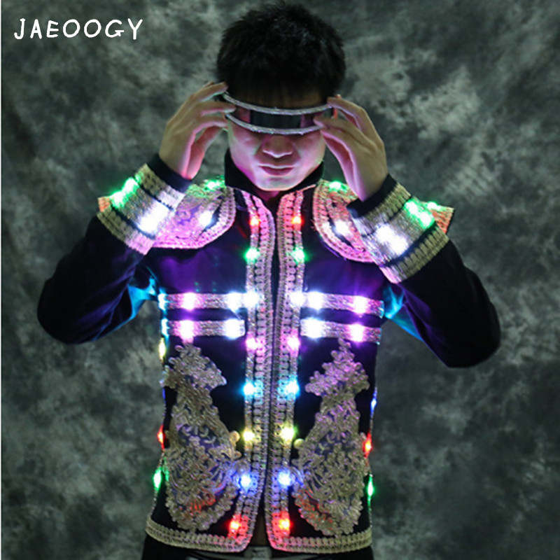 Customized high quality LED light clothing costumes suit light clothing clothing laser bar night games Symphony performances