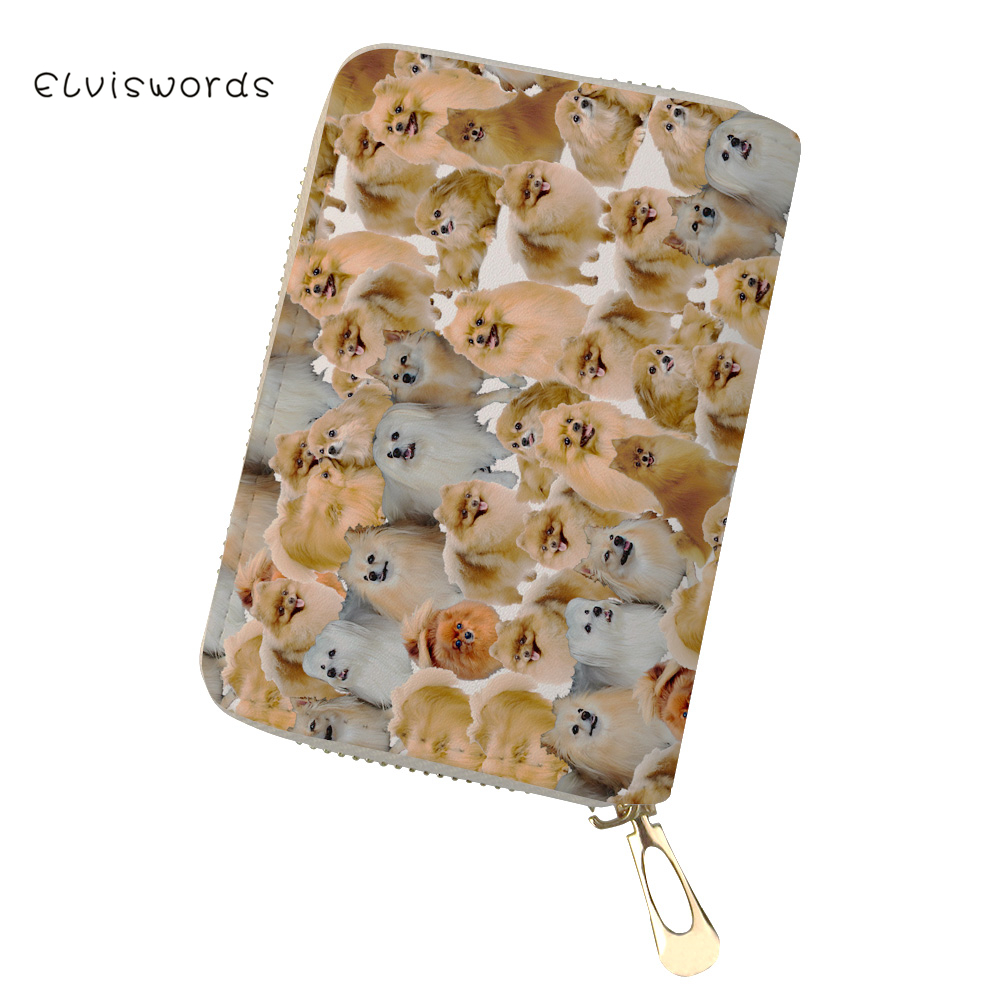 ELVISWORDS Cute Animals Print Card Id Holders Women Wallet Case Covers for Passports Female Business Travel Document Pochette in Card ID Holders from Luggage Bags
