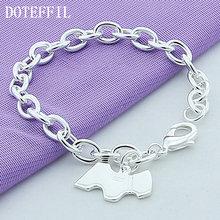 Doteffil 925 Стерлинговое Серебро собака бирка кулон браслет