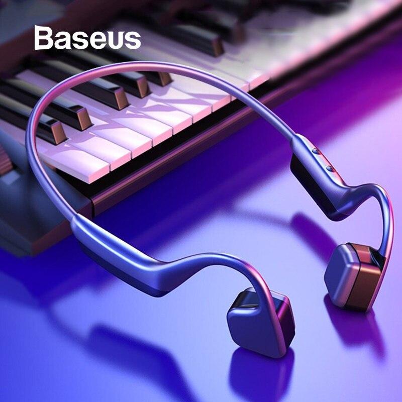 Baseus BC10 Bone Conduction Bluetooth Earphone Wireless IPX5 Waterproof Bluetooth 5 0 Headset Ultralight Hifi Headphone