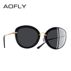AOFLY BRAND DESIGN Fashion Ladies Cat Eye Sunglasses Metal Legs Polarized Sunglasses Women Oculos Gafas A137
