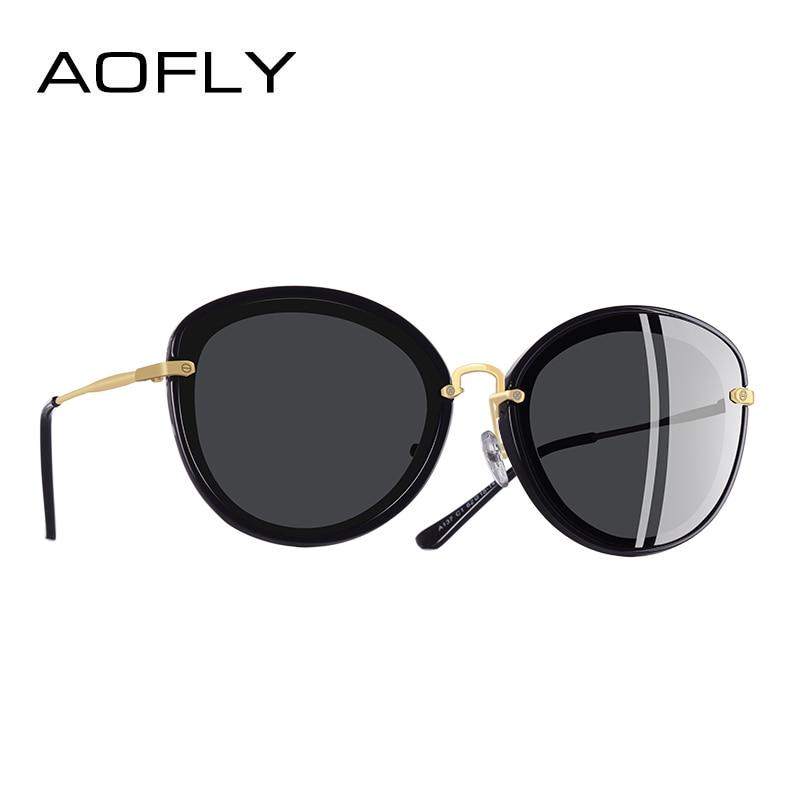 AOFLY BRAND DESIGN Fashion Ladies Cat Eye Sunglasses Metal Legs Polarized Sunglasses Women Oculos Gafas A137|Women's Sunglasses| |  - title=