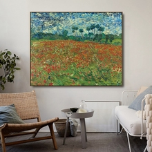 Papaver Field by Vincent Van Gogh Posters and Print Canvas Painting Calligraphy Wall Pictures for Living Room Bedroom Home Decor