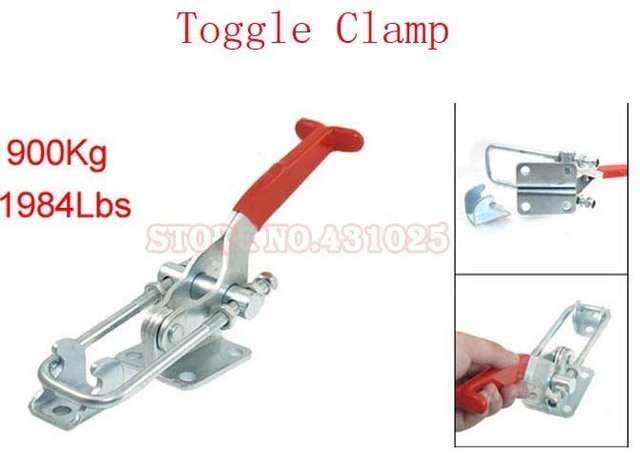 40341 900Kg 1984Lbs Adjustable U Shape Latch Type Pull Action Toggle Clamp 2Sets