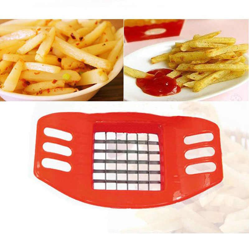 Bahasa Perancis Goreng Cutter Stainless Steel Kentang Cutter Slicer Dapur Alat Memasak Sayuran Alat Pembuat Keripik Warna Acak