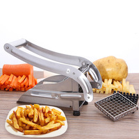1PC Manual French Fry Cutters StainlessSteel Manual Bar Cutting Machine Potato Chip Maker 2blades Carrot Chopper FruitVegetable