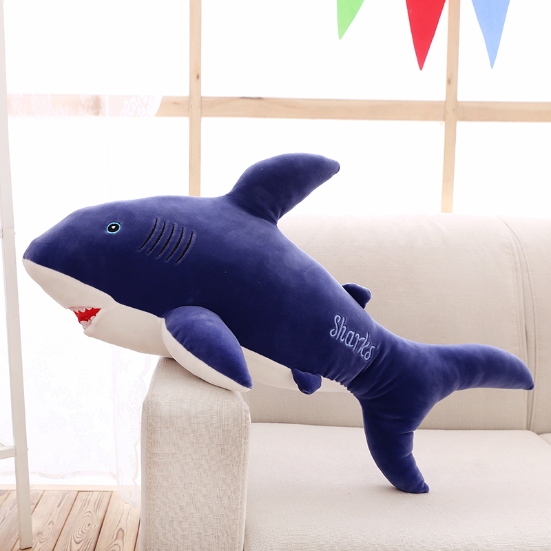 stuffed plush toy large 100cm carton blue shark soft throw pillow birthday gift b0587 large 75cm gray shark plush toy soft throw pillow birthday gift xmas gift d2398