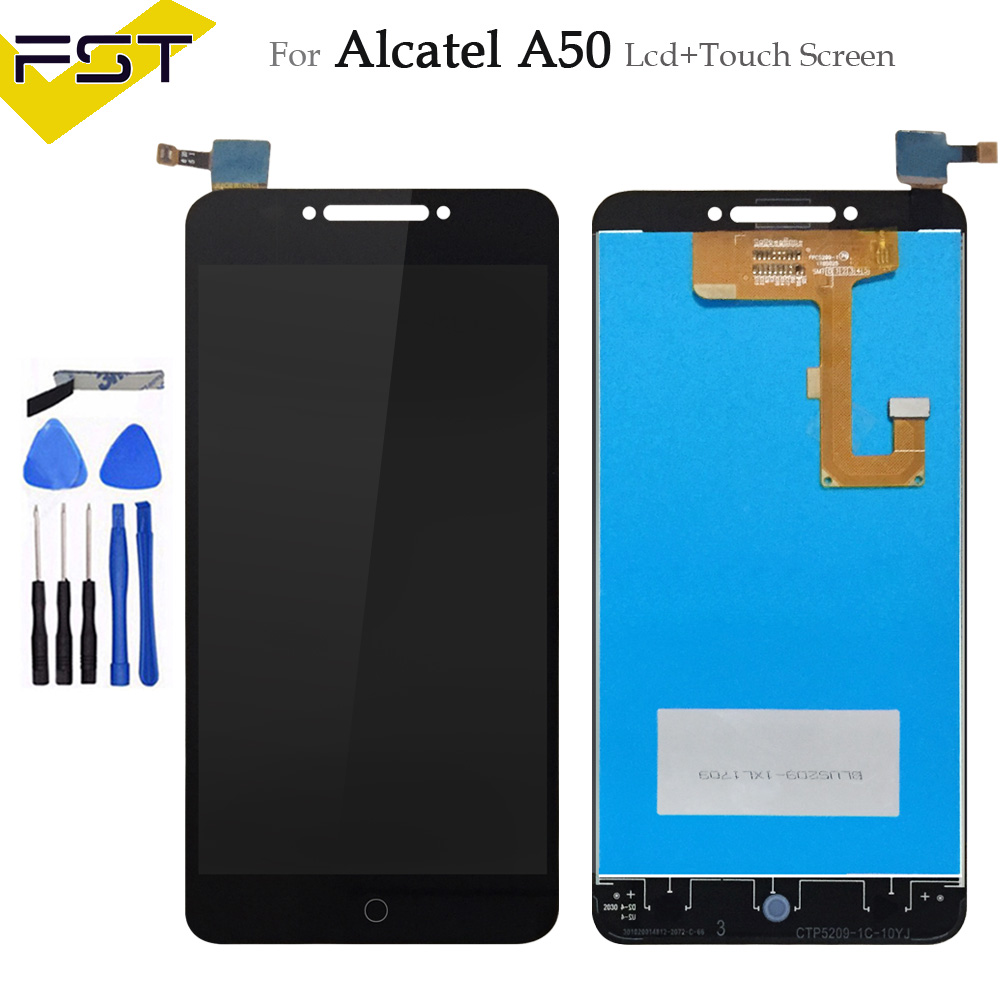 5.2'' For Alcatel A50 LCD Display And Touch Screen Assembly Repair Parts Replacement Mobile Accessory+Tools +Adhesive