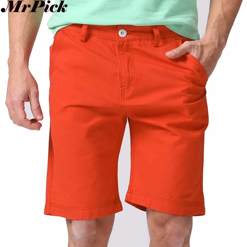 Men   Shorts   Straight Knee Length Zipper   Shorts   Plus Size 2017 Brand Fashion Casual Bermuda Masculina White Black Green Red Y1030