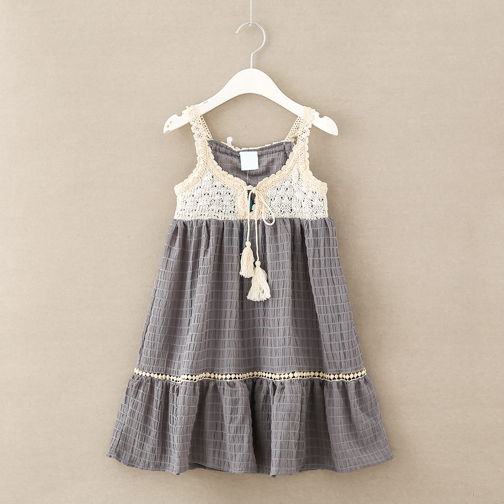 luoyamy Grils Sleeveless Dresses Tie Princess Children Baby Girl Casual Beach  Clothing Lace Party Gown Birthday Dresses-in Dresses from Mother   Kids on  ... 6e589dec6cc2