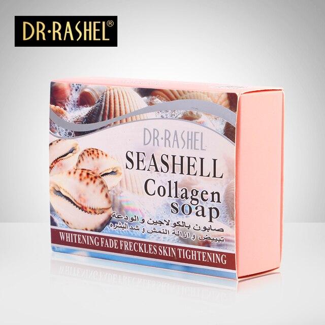 Seashell коллагена Мыло мыть лицо смягчить естественное Отбеливание sabonete ручной saboneteira глубокой очистки двойной цвет душистое мыло