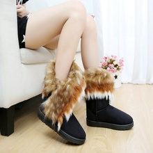 Centenary 2018 New Fashion Autumn and Winter Ladies Casual Comfortable Snow Boots Ankle Warm Synthetic Leather