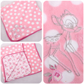 80 X 80 см оригинальный бэмби олень одеяло дети детское одеяло мягкий розовый бросок одеяло новорожденный пеленание одеяло подарок