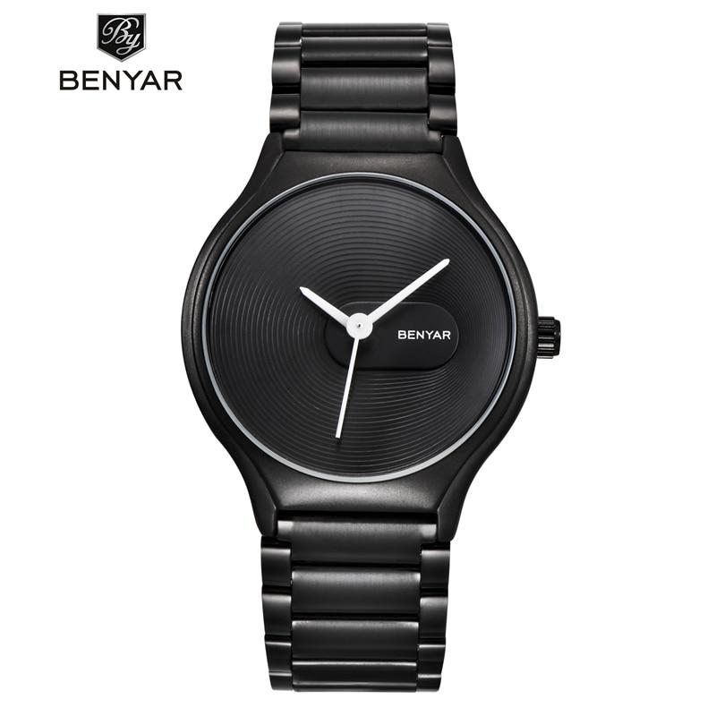 BENYAR Watch Men Women Couple Lover's Waterproof Ladies Mens Stainless Steel Quartz Wrist Watch Clock Saat Reloj Mujer Hombre