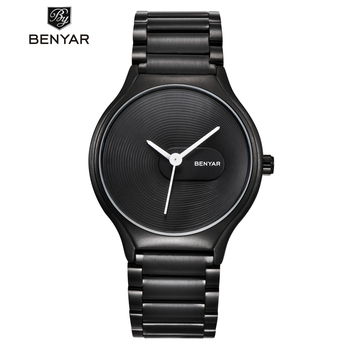 BENYAR Watch Men Women Couple Lovers Waterproof Ladies Mens Stainless Steel Quartz Wrist Clock Saat Reloj Mujer Hombre