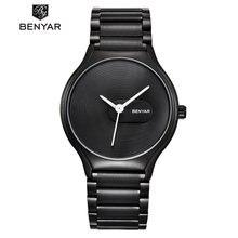 Часы benyar для мужчин и женщин водонепроницаемые кварцевые