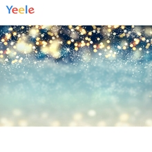 Yeele Merry Christmas Party Winter Snow Light Bokeh Baby Photo Background Custom Vinyl Photography Backdrop For Photo Studio kate blue snow photo backdrop christmas with trees bokeh light backdrops fotografia washable and seamless baby shower backdrop
