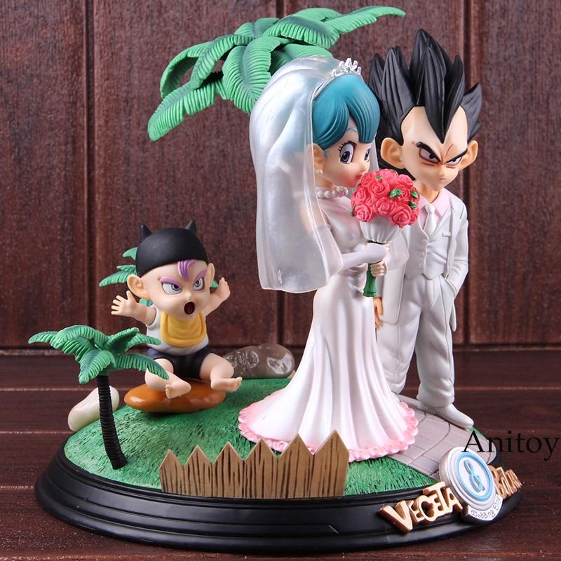Игрушка из аниме Dragon Ball Vegeta & Bulma свадебный день ПВХ Статуя Фигурка Коллекционные Фигурки игрушки Dragon Ball Набор - 3